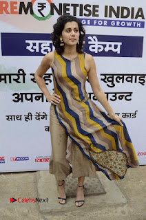 Actress Tapsee Panu Stills at Remonetise India Campaign in Chetna College Bandra West  0024.jpg