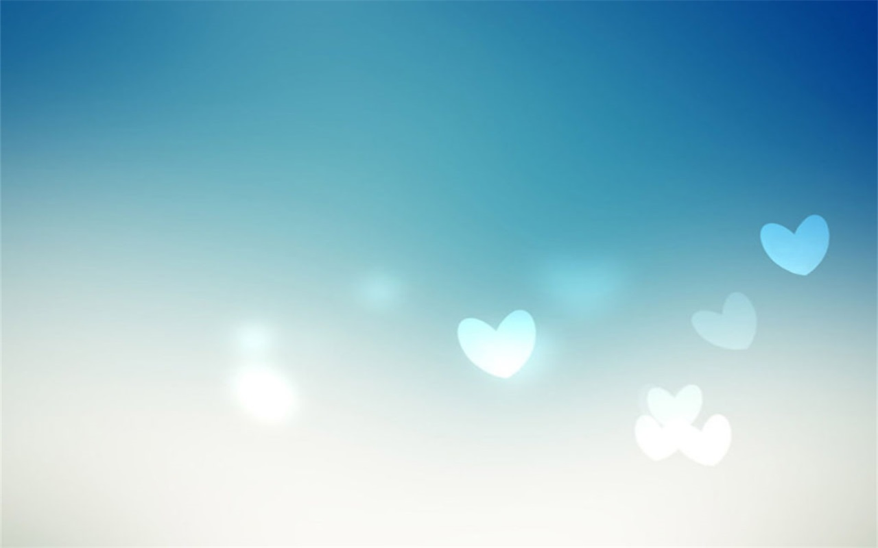 Small fresh love PPT background