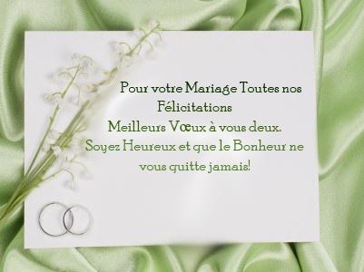 Texte pour une carte de mariage invitation mariage carte mariage texte mariage cadeau - Texte felicitation mariage original ...