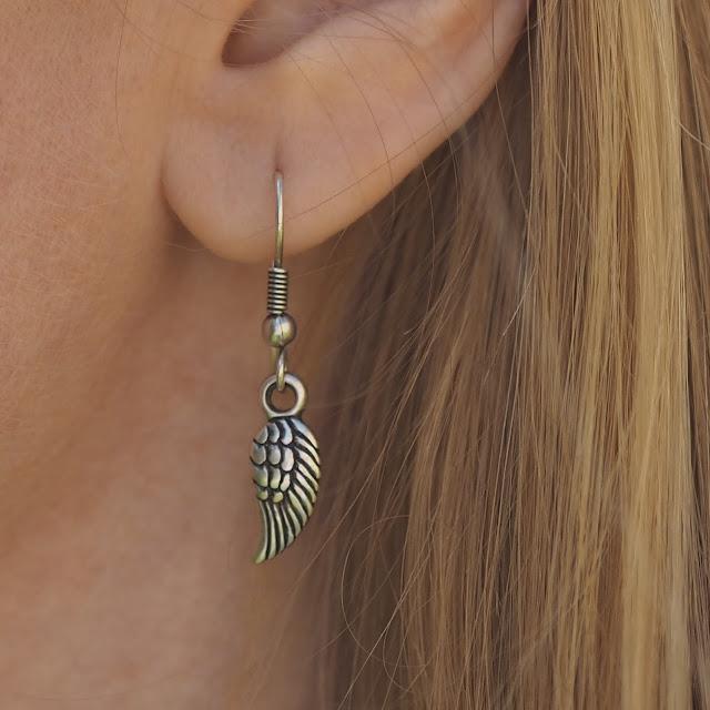 Danon jewellery angel wings earrings
