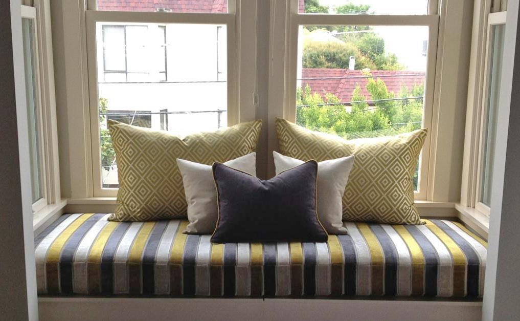 CUSHION WORKS: Fun Window Seat with Pillows by Ida Lauren ...