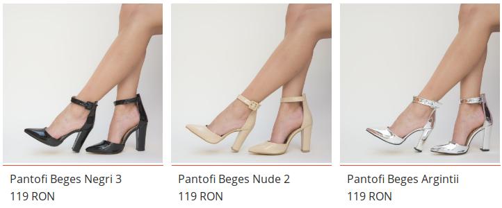 Pantofi eleganti si comozi cu toc gros de nunta