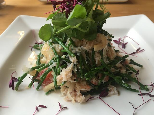 Crab and Fennel salad at The George Inn Braunton