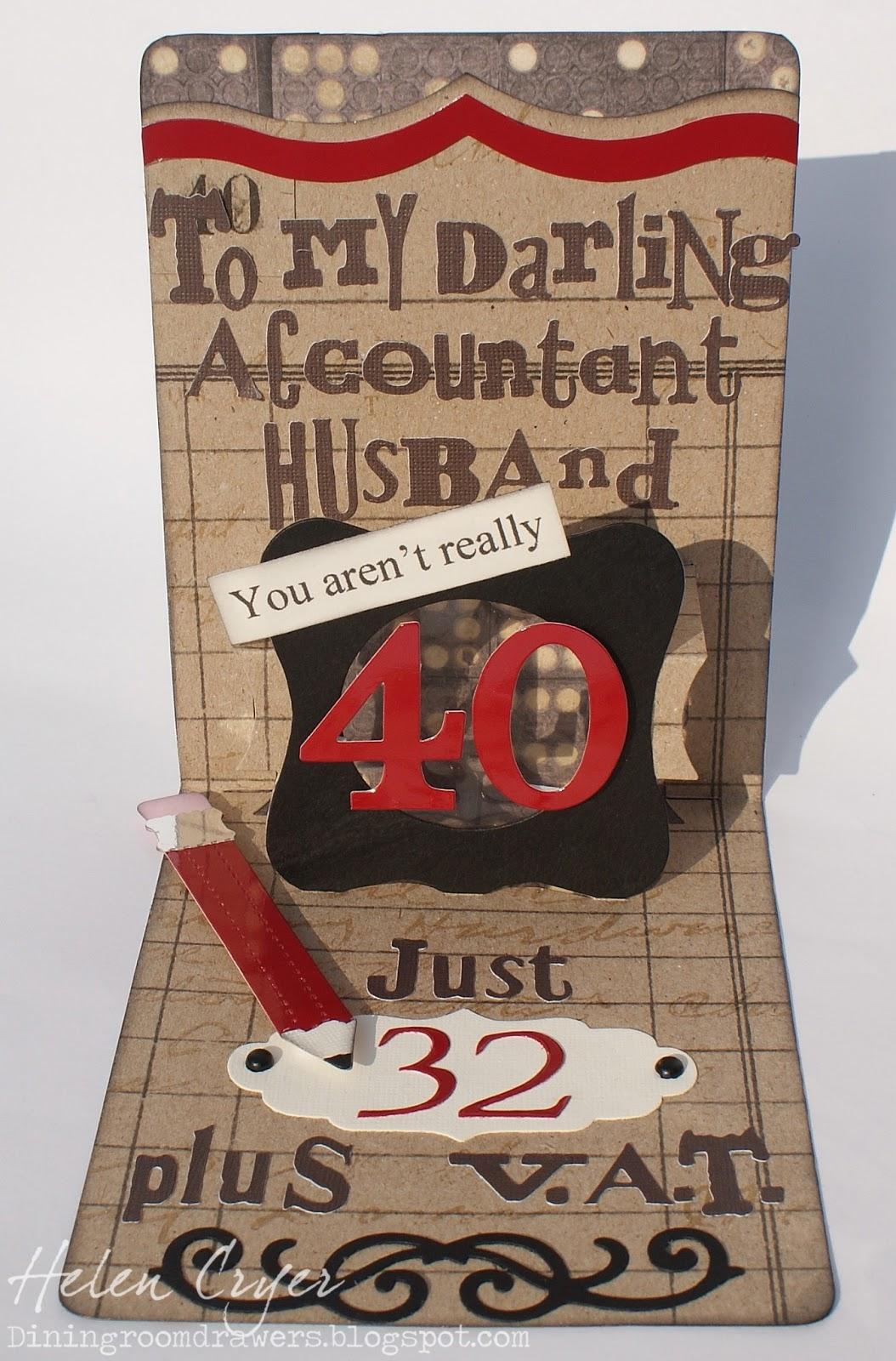 Husband 40th Birthday Card : husband, birthday, Dining, Drawers:, Birthday, Husband