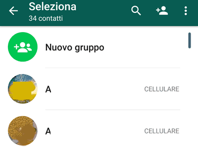 Elenco amici whatsapp