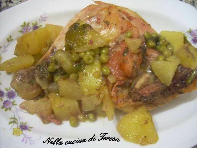 Nella cucina di teresa pollo patate e piselli - Nella cucina di teresa ...