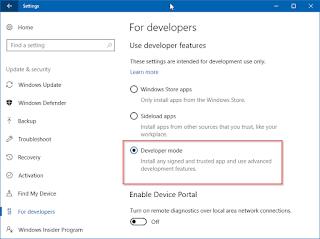 Cara Mengaktifkan Fitur Developers Mode pada Windows 10