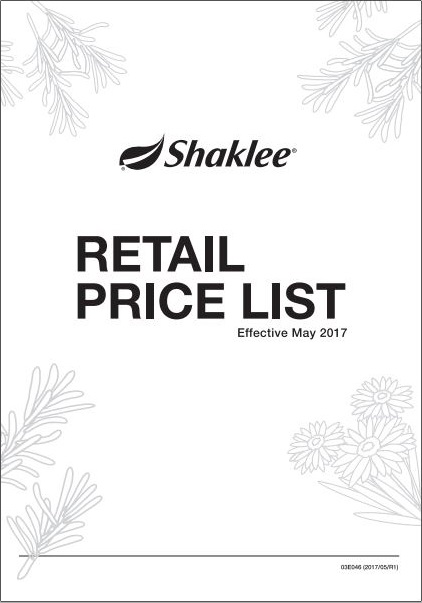 Senarai Harga Product Shaklee Terbaru 2017