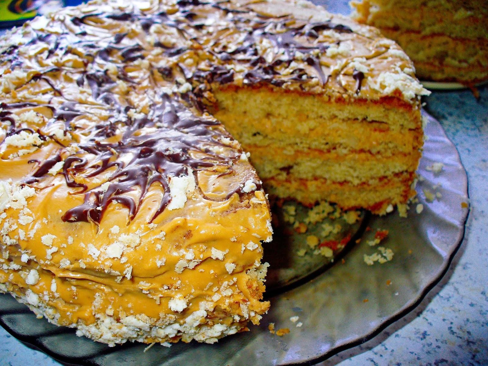 Пирог со сгущёнкой и арахисом - Кулинарные рецепты | 1200x1600