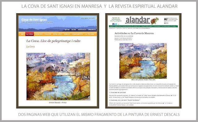 COVA DE SANT IGNASI-MANRESA-ALANDAR-REVISTA-ESPIRITUAL-SANT IGNASI DE LOIOLA-PINTURA-ARTISTA-PINTOR-ERNEST DESCALS-PINTURAS-FRAGMENTOS