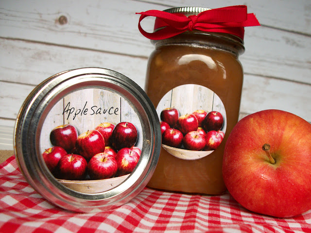 Market Fresh Apple Mason Jar Labels