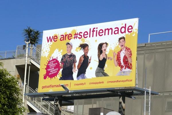 We are selfie made billboard