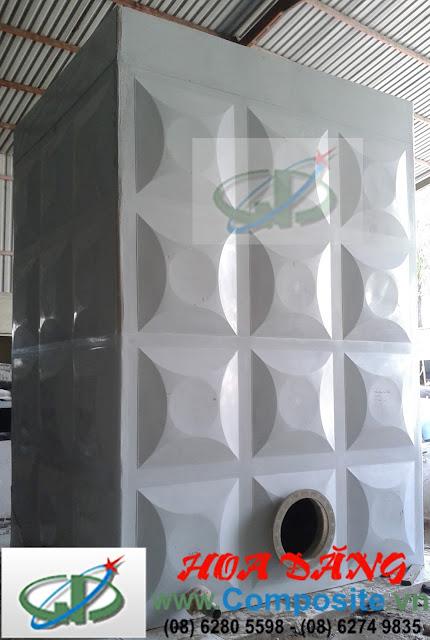 Bồn composite dạng vuông - một sản phẩm từ Hoa Đăng Composite