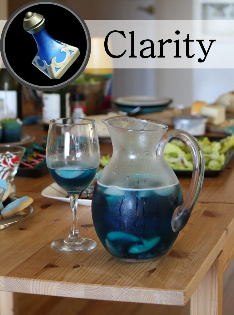 Blue curacao and white wine form the basis for this Dota 2 beverage