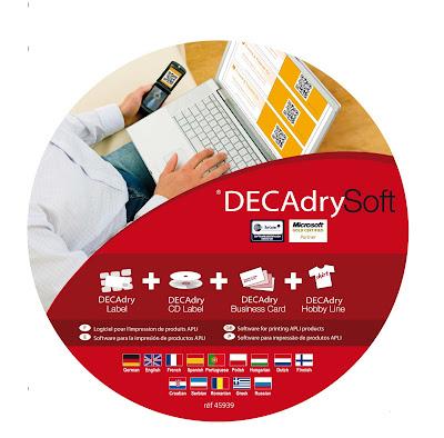 DECAdry-Δωρεάν προγράμματα για εκτύπωση καρτών, ετικετών, cd