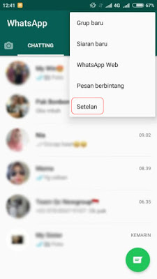 WhatsApp Chatting Setelan