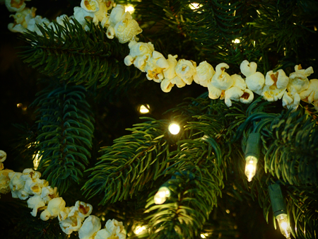A Frugal Homemade Christmas Tree: DIY Popcorn Garland