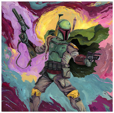 """Boba Fett"" Star Wars Print by Rich Pellegrino & Spoke Art"