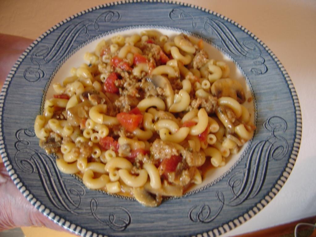 Cheeseburger Casserole plate