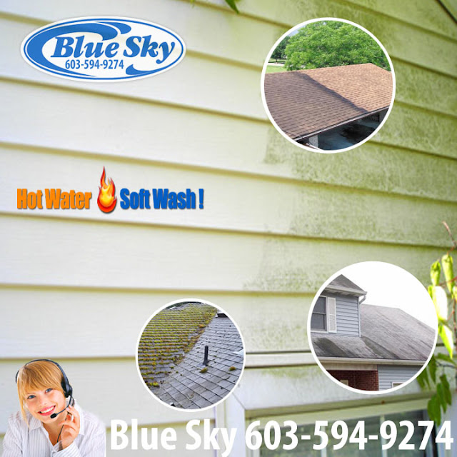 Blue Sky - Nashua Pressure washing vinyl  - Mold & Algae