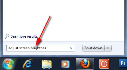 Adjust screen brightness