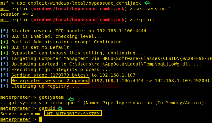 Multiple Ways to Bypass UAC using Metasploit