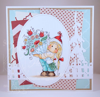 Heather's Hobbie Haven - Tilda with Big a Bouquet Card Kit