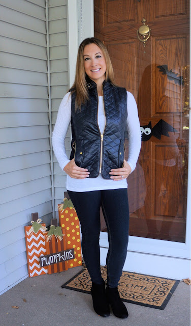 Fate Rowen Faux Leather Quilted Vest