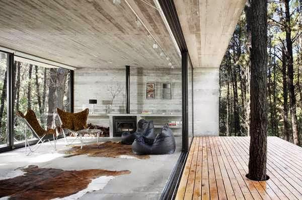 Contemporary Concrete Natural House Design Inspired