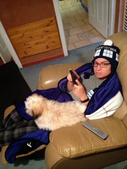 Jesse and Trixie Watching Cartoons - Doctor Who Beanie and Blanket