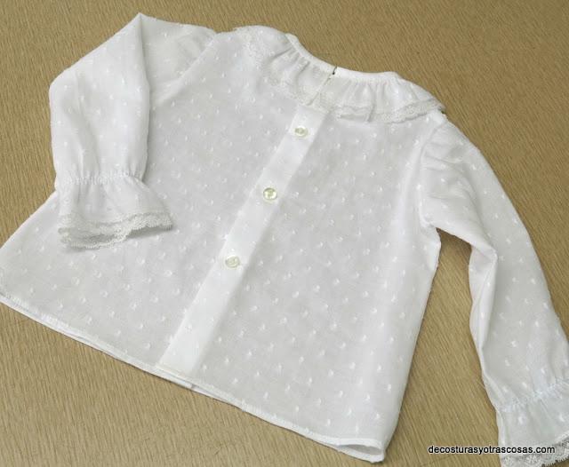 blusa para bebé 12 meses paso a paso