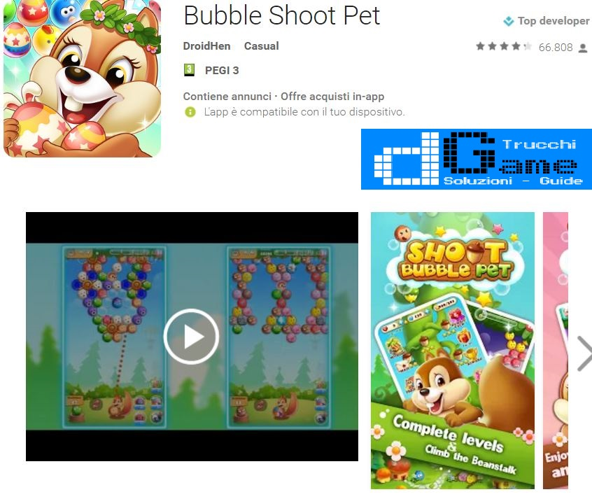 Trucchi Bubble Shoot Pet Mod Apk Android v1.2.138