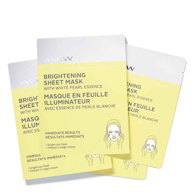 Shop ANEW Brightening Sheet Mask with White Pearl Essence (4 pack)
