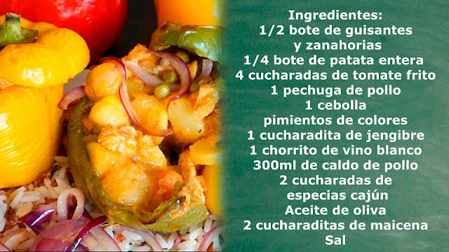 ingredientes pollo cajún