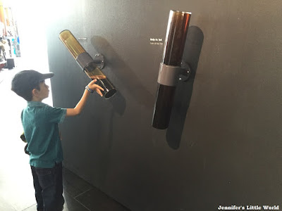 Child investigating oil at the petroleum museum