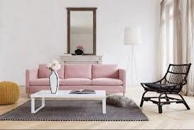 diseño sala sofá rosa