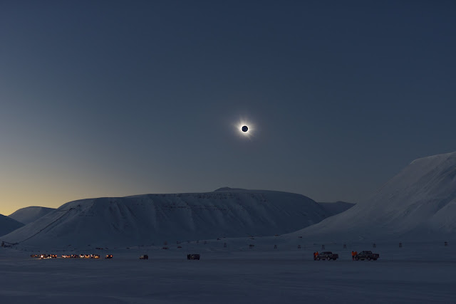 Total Solar Eclipse over Svalbard