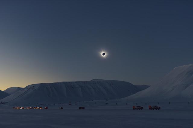 Total Solar Eclipse over Svalbard