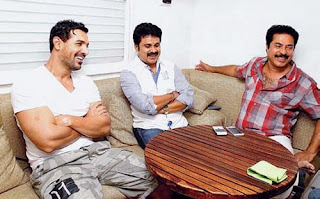 john abraham met mammookka and dileep