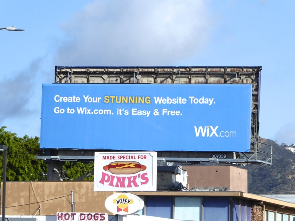 Wix website design billboard