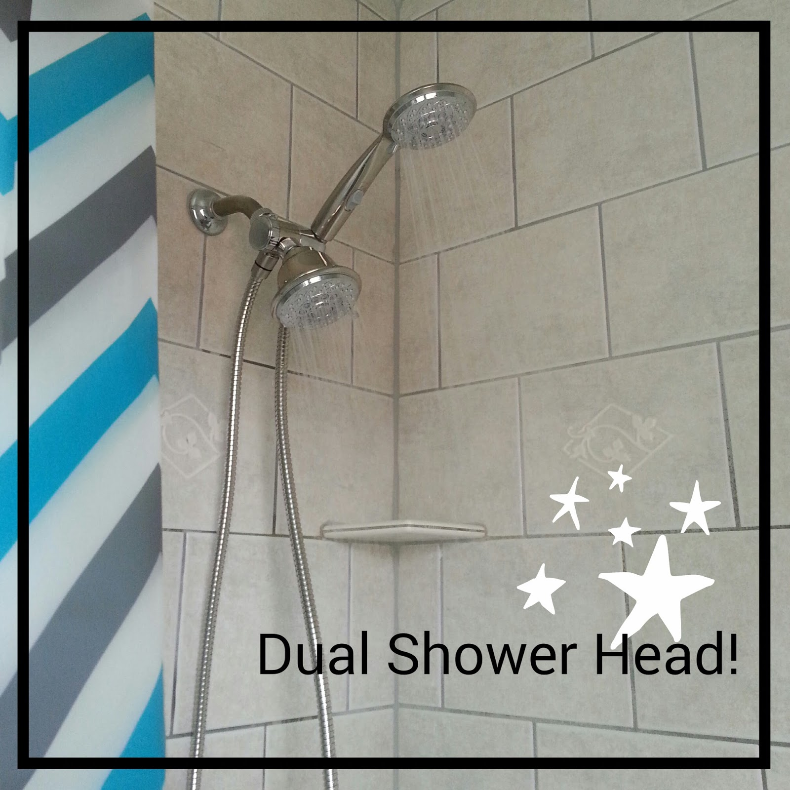 Doodlecraft: Luxurious Dual Shower Head!