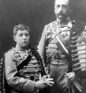 Carlos de Borbón y Borbón- y su hijo Alfonso