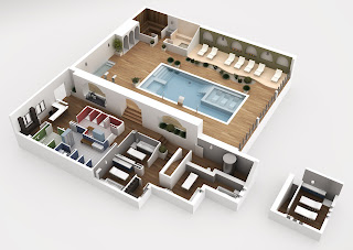 Hotel+Montiboli Imagina tu piscina antes de tenerla terminada.