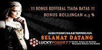 FREECHIP POKER - Bonus Deposit 100% dari luckypoker77