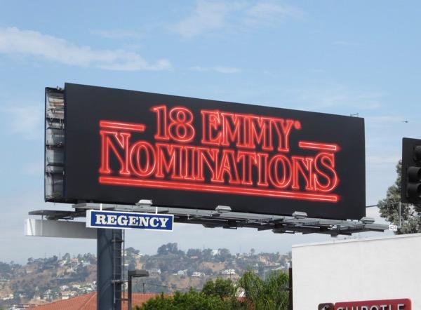 Stranger Things 18 Emmy Nominations billboard