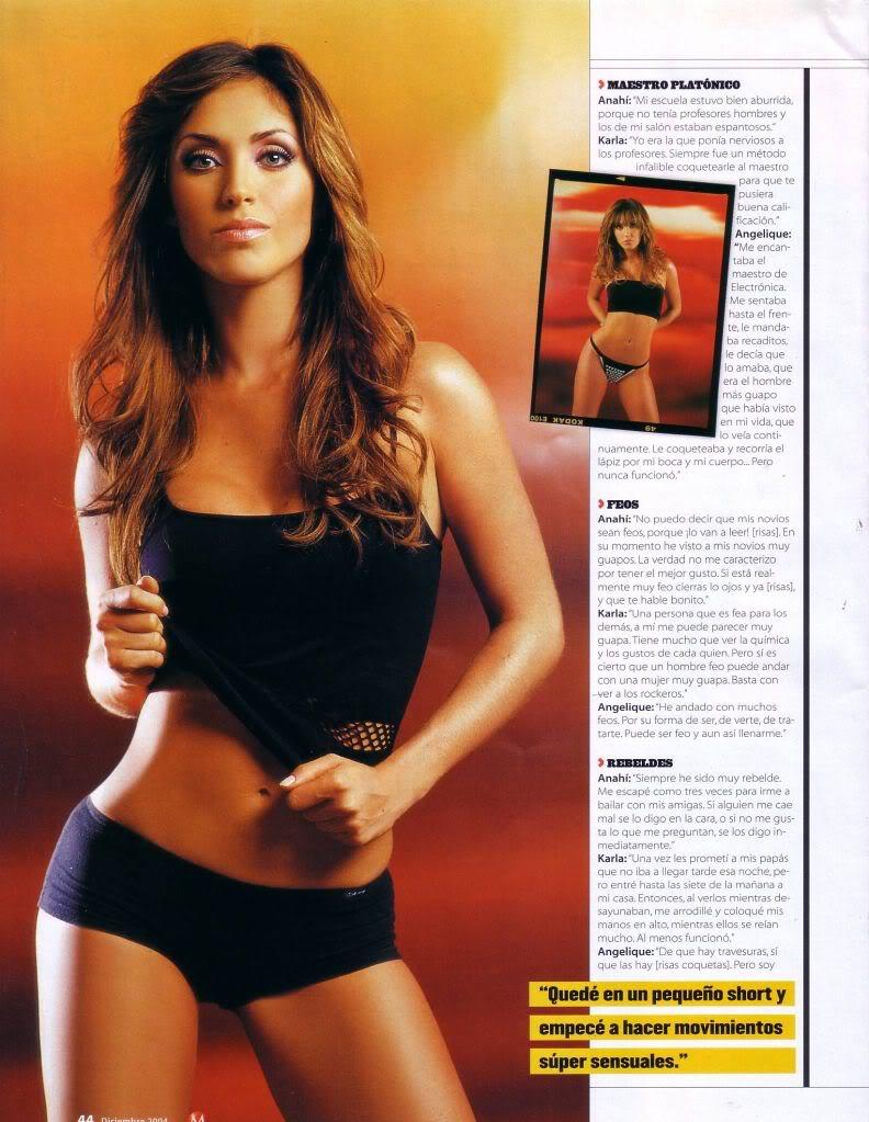 Angelique Boyer Maxim rebelde memories: anahi maxim photoshoot 12.2004