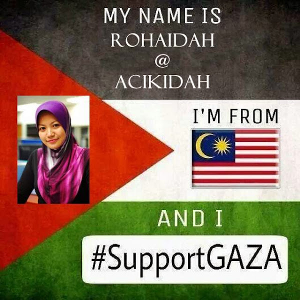 I'm From Malaysia And I Support GAZA