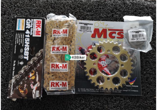 Set sprocket Yamaha depan belakang