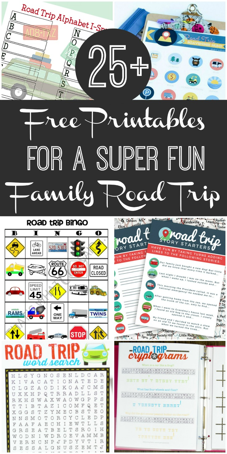 25 free printables for a super fun family road trip frugal