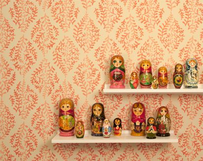 the russian store nesting dolls on shelves decorating your home